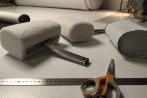 En cours : modelage des appuis-tête